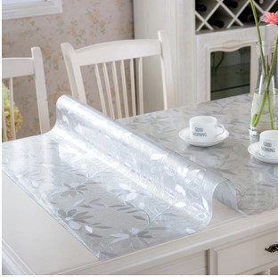 欧式PVC烫桌布防水防烫免洗透明