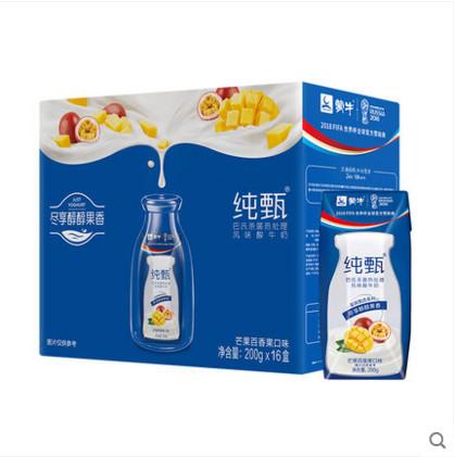 蒙牛纯甄常温酸奶200g*24盒+芒果百香果口味200g*16包