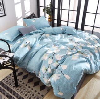 床上全棉纯棉加厚保暖磨毛床单被套
