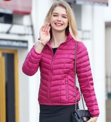 轻薄羽绒服女短款 修身显瘦外套