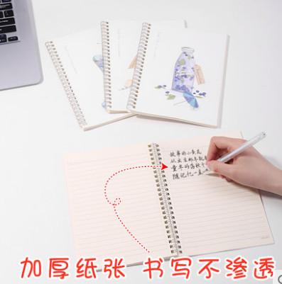 【得力品牌】韩国小清新A5线圈本4本共240页