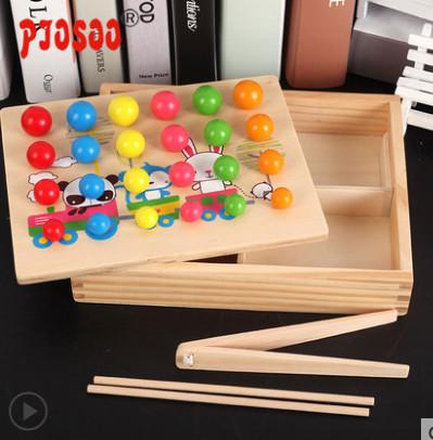 【实木制作】儿童益智夹珠子玩具