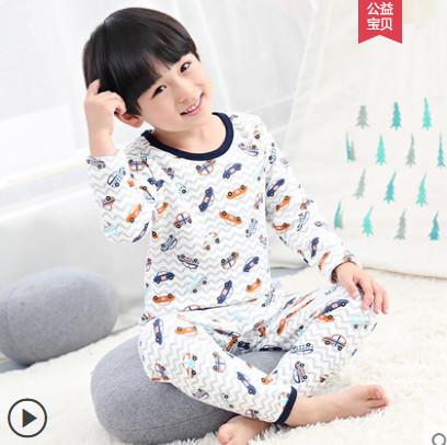 【淘气岛】儿童加绒保暖内衣套装