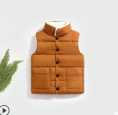 冬季加厚女童韩版新款保暖马甲
