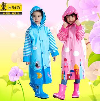 蓝蚂蚁儿童雨衣,