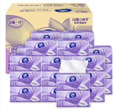 【猫超】维达立体美食品级抽纸3层108抽24包: