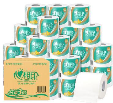 【天猫超市】心相印卷纸心柔3层180g27粒: