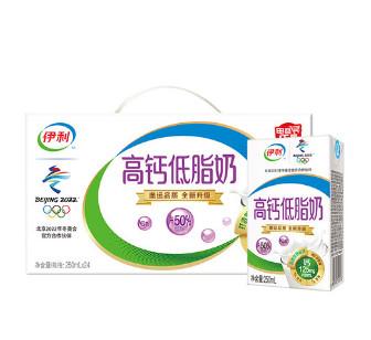 伊利 高钙低脂奶250ml*24盒,