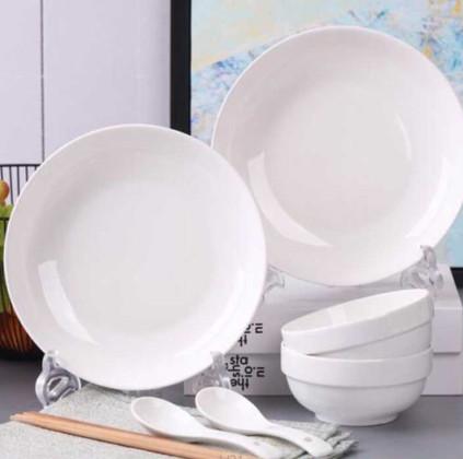 【梓林阁】景德镇骨瓷碗碟8件套