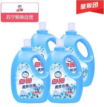 白猫高效洗衣液3kg*4瓶,