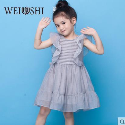 韦氏2019女童公主裙百褶宝宝小童连衣裙