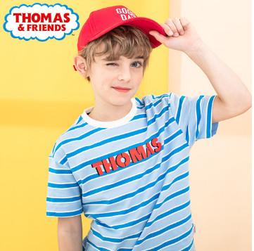 托马斯童装 夏装新款纯棉T恤,