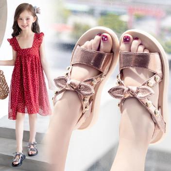 夏季新款时尚小公主鞋女童凉鞋,