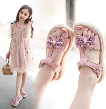 女童夏季时尚中大童公主鞋,