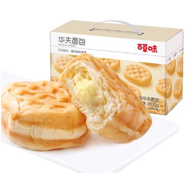 百草味华夫饼手撕夹心面包800g,