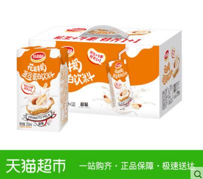 【猫超】达利园花生牛奶原味250ml*12盒*2箱(拍2件5折)