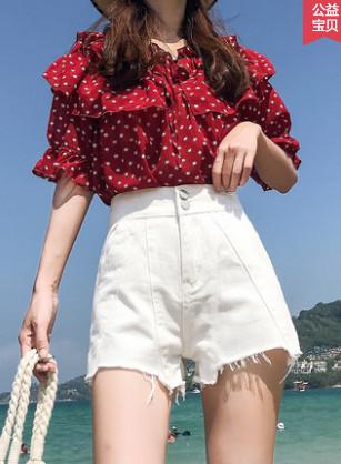 【前255件5折29.5元】牛仔短裤女高腰2019新款夏外穿