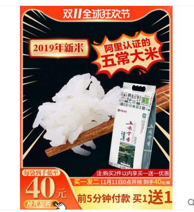(前5分钟买1送1)五米常香有机五常长粒大米5kg