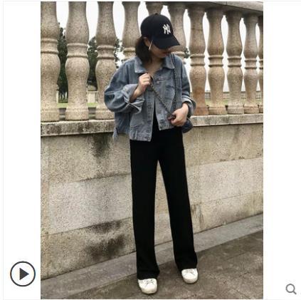 【巨显瘦】金丝绒阔腿裤宽松坠感韩版