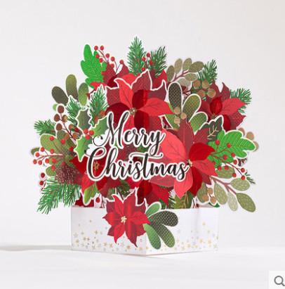 【唯思美】3D立体圣诞贺卡抖音爆款