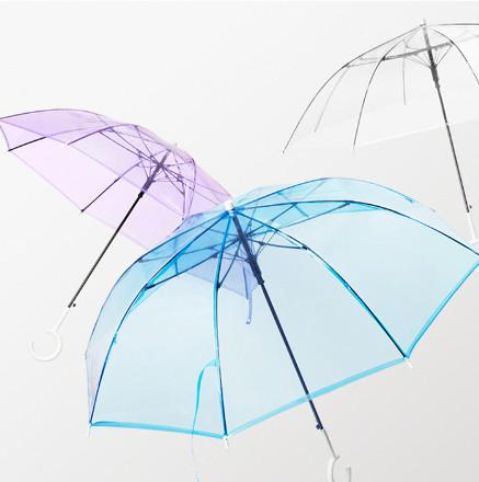 【蕉下】纯色透明长柄雨伞
