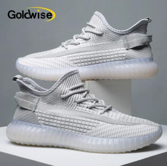 【goldwise鞋类旗舰店】男女款飞织爆米花休闲椰子鞋